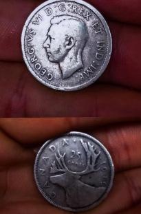 1939 Canadian Silver Quarter